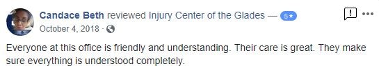 Injury Center of the Glades Patient Testimonials